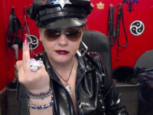 fat busty mature leather mistress