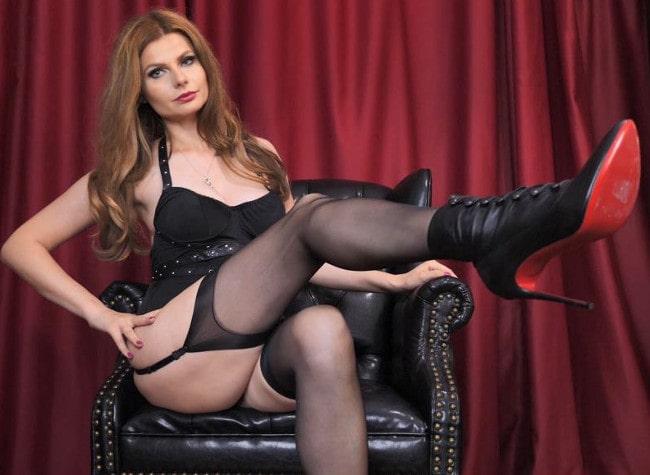 sexy money dom teasing garters & heels